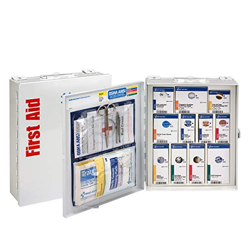 Station Industrial Aid First - Xpress First Aid 25 Person Medium Metal SmartCompliance Cabinet Without Medications