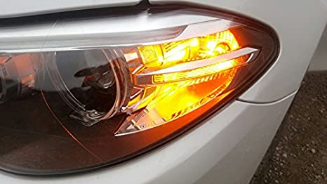 01fda9422a2d Amazon.com  GFJMC 2 PCS Amber Yellow Error Free CREE PY24W 5200s High Power LED  Bulbs Turn Signal Bulb For BMW E90 E92 3 F10 F07 5 Series E83 F25 X 3 E70 X  ...