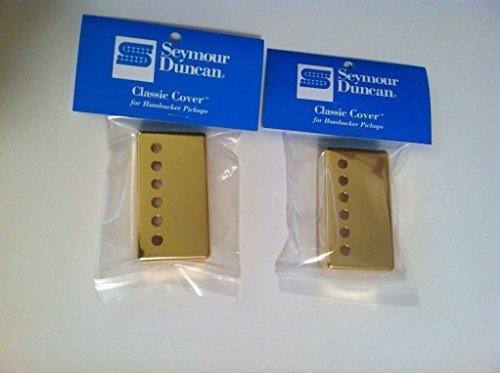 Seymour Duncan Classic Cover Gold Humbucker Pickup Covers Pair of 2 (Pickup Covers Duncan Seymour)