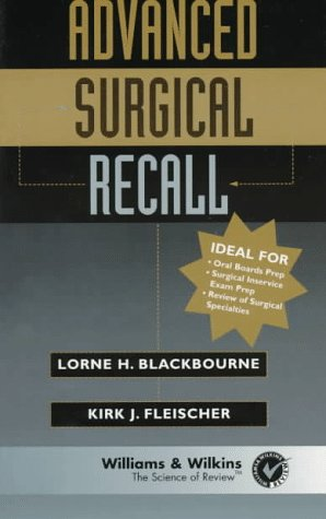 Advanced Surgical Recall (Recall Series) by Brand: Lippincott Williams Wilkins
