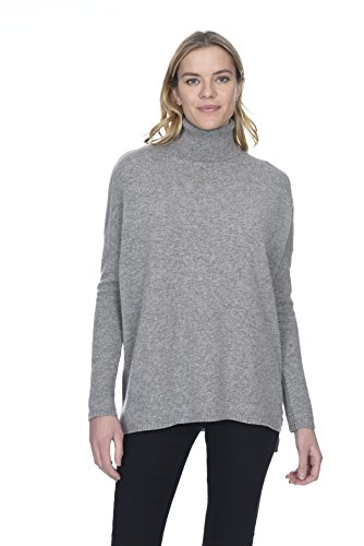 (State Cashmere Women's 100% Pure Cashmere Tunic Turtleneck Sweater )