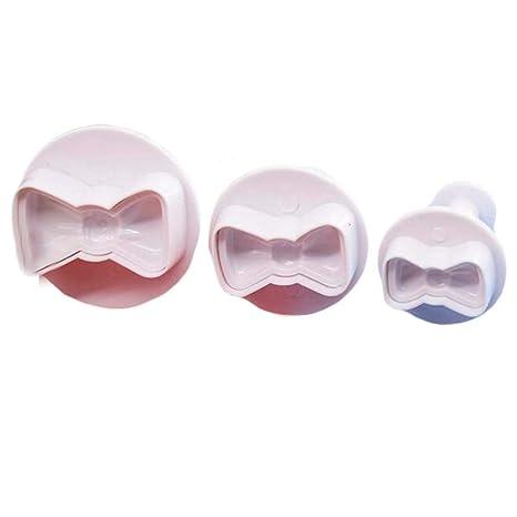 2 Sets Forma de Corbata de moño Fácil de Usar Hermosa Pastelería Sartenes para Galletas Fondant