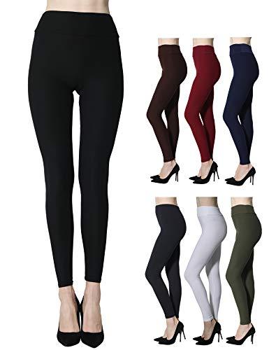 (Diravo High Waist Leggings for Women,Soft Slim Pants,Stretch Basic Leggingsfor Running Yoga Workout Fitness)