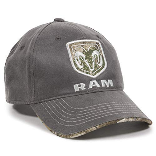 Outdoor Cap Dodge Ram Realtree Visor Edge Charcoal Camo Hunting Outdoor Hat from Outdoor Cap