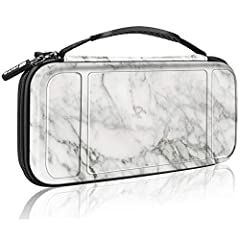 Fintie Portable Carry Bag for Nintendo Switch, keeps your Nintendo Switch securely stored all the time.   Multiple Storage:   1. The main bottom section of this case fits the Nintendo Switch console with both Joy-Con controllers.  2. The mes...