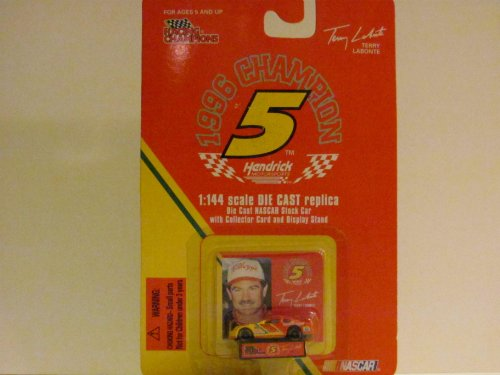 TERRY LABONTE - Kellogg's #5 - NASCAR - 1996 Champion 5 - RACING CHAMPIONS - 1:144 Scale Die Cast Replica - Die Cast NASCAR Stock Car (Monte Carlo) with Collector - Nascar Monte Carlo
