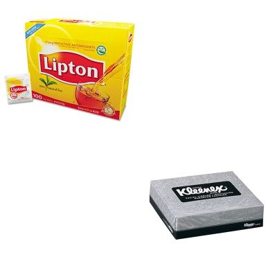 kitkim21195lip291-value-kit-kleenex-21195-junior-facial-tissue-84quot-x-58quot-kim21195-and-lipton-t