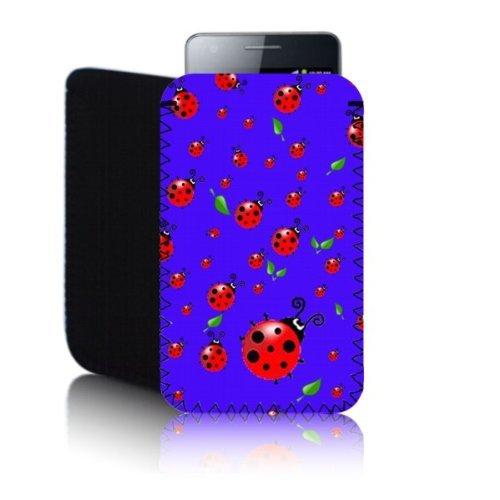 Biz-E-Bee Phonecase GT Exclusif 'Coccinelle' violet pour Samsung Galaxy Ace Plus S7500(M) résistant aux chocs en néoprène pour Téléphone portable, Housse, Pochette