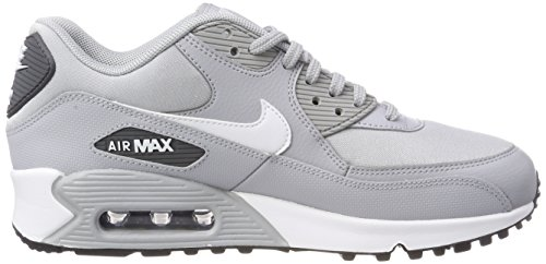 first rate 9f8cc d4699 ... Nike Wmns Air Max 90, Chaussures de Gymnastique Femme Gris (Wolf  Grey white