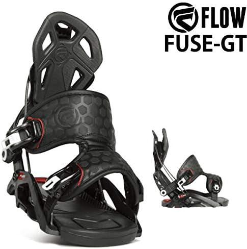 18-19 FLOW/フロー FUSE-GT FS フューズ メンズ レディース ビンディング バインディング スノーボード 2019 L(25.5~29.5cm) 黒 黒 L(25.5~29.5cm)
