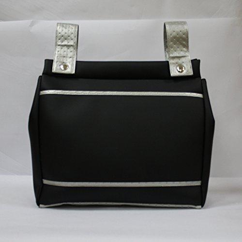 Bolso panera Baby Star color negro/plata