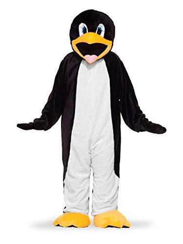 Forum Deluxe Plush Penguin Mascot Costume, Black/White, One Size -
