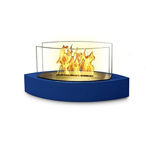 Lexington Fireplace - Anywhere Fireplace - Lexington Model Tabletop Bio-ethanol Fireplace in High Gloss Blue