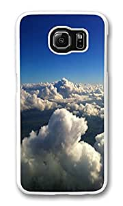 VUTTOO Rugged Samsung Galaxy S6 Edge Case, Abstract Clouds Sea Hard Plastic Case for Samsung Galaxy S6 Edge PC Transparent