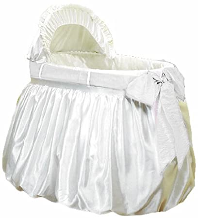 baby doll bedding shantung bubble and crushed belt bassinet bedding ecru - Bassinet Bedding