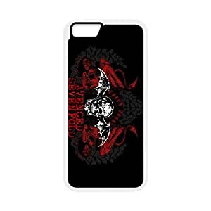 Avenged Sevenfold Logo Case Cover For Apple Iphone 6 Plus 5.5 Inch Funny Case Cover For Apple Iphone 6 Plus 5.5 Inch Apple {White}