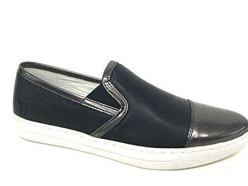 Donna PUNTINA Slipon Scarpe Jeans DS16TJ03 Pelle Nera Trussardi YBTExtR