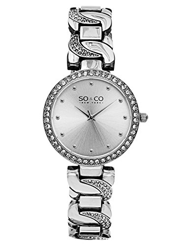 SO-CO-New-York-Reloj-de-pulsera-analgico-para-mujer-correa-de-chapado-en-acero-inoxidable