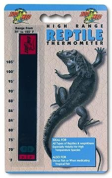 High Range Thermometer for Terrariums [Set of - Zoo Range Thermometer High Med