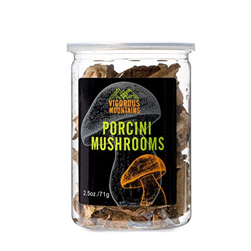 (VIGOROUS MOUNTAINS Highest Grade Dried Porcini Mushrooms Boletus Edulis 2.5 Ounce)