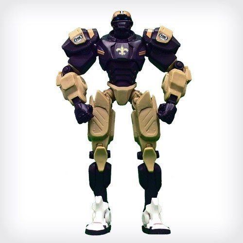 "Foamheads NFL New Orleans Saints 10"" Team Cleatus FOX Robot Action Figure Version 2.0"