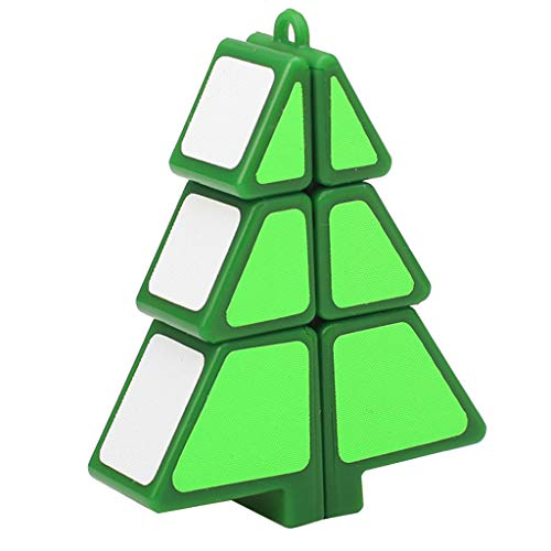 LtrottedJ Magic Cube 1X2X3 Christmas Tree Cube Puzzle Ultra-Smooth Magic Puzzle Xmas Gifts (Green) ()