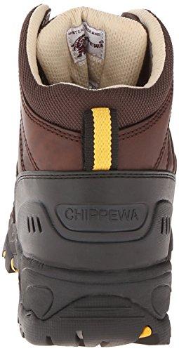Chippewa Mens 6 Pollici Stivali Da Trekking Impermeabili In Cotone Oliato Con Punta Arrotondata Marrone