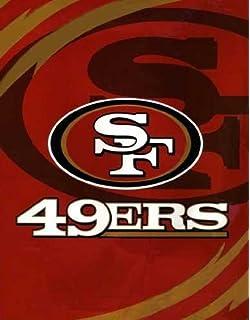 Amazon san francisco 49ers royal plush raschel blanket king nfl san francisco 49ers queen size throw blanket voltagebd Gallery