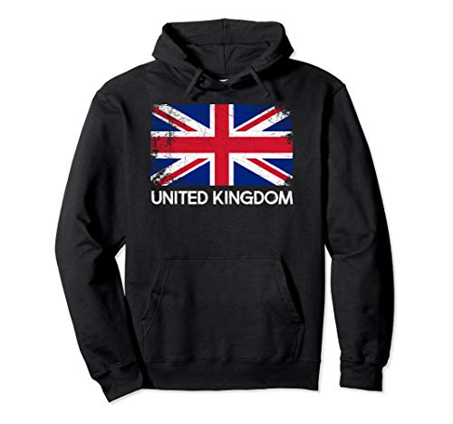 British Flag Hoodie | Vintage Made In United Kingdom UK ()