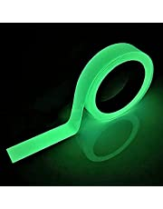 SeKi Fluorescerende zelfoplichtende tape 10 mm x 10 meter; Markeringsband oplichtend Glow in The Dark waarschuwingstape fosforreflector tape zelfklevend