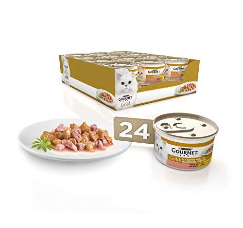 🥇 Purina Gourmet Gold Bocaditos en Salsa comida para gatos con Salmon y Pollo 24 x 85 g