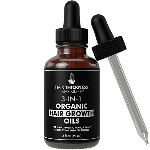 Best Organic Hair Growth Oils with Tea Tree. Stop Hair Loss Now by Hair Thickness Maximizer. Best Treatment for Hair Thinning. Hair Thickening Serum (2oz Tea Tree + Growth Oils)