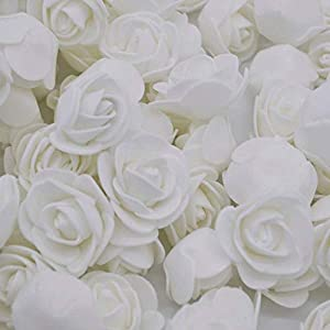 Fake Flower Heads, Mini Artificial Foam Rose Flower Head Fake Flowers Artificial Floral for Vase Filler Wedding Decoration Bridal Shower, 50 PCS 14