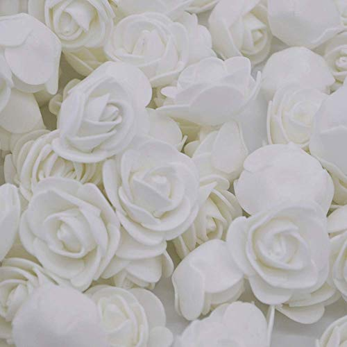 Fake Flower Heads, Mini Artificial Foam Rose Flower Head Fake Flowers Artificial Floral for Vase Filler Wedding Decoration Bridal Shower, 50 PCS
