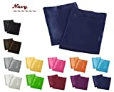 Creative 2 Pieces of Colorful Shiny Satin Queen Size Pillow Case - Navy