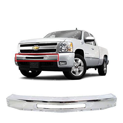 MBI AUTO - Chrome, Steel Front Bumper Impact Face Bar for 2007 2008 2009 2010 2011 2012 2013 Chevy Silverado 1500 Pickup 07-13, GM1002831