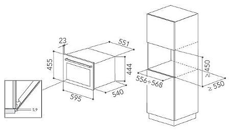 KitchenAid KOCCX 45600 - Horno (Pequeño, Horno eléctrico, 40 L, 850 W, 40 L, 1600 W): Amazon.es: Hogar