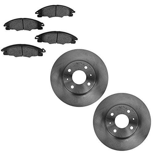 (Rotor & Brake Pad Ceramic Front Left Right Kit Set for 08-11 Ford Focus)