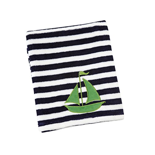 Sadie & Scout Hampton - Sail Boat Applique Blanket - Boy (Sailboat Rack)
