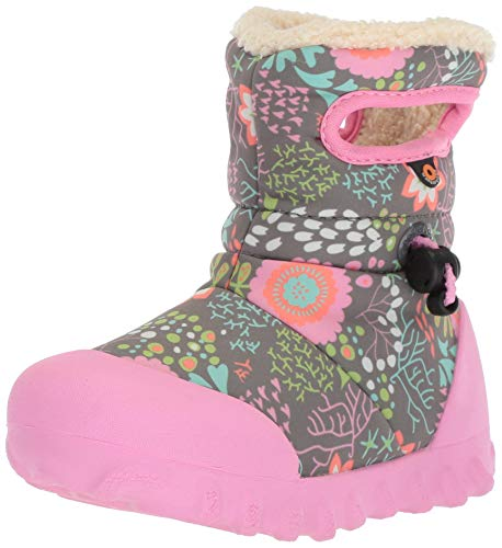 (Bogs Baby B-Moc Waterproof Insulated Kids/Toddler Winter Boot, Reef Print/Gray/Multi, 5 M US)
