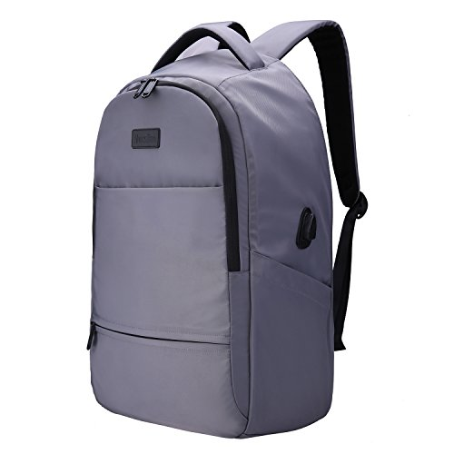 Price comparison product image MarsBro Laptop Backpack,  Anti Theft Business Water Resistant 17 Inch with USB Charging Port Travel College Computer Bag,  Grey