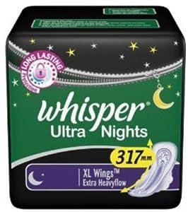 Whisper Sanitary Napkins Day/Night. Choose your quantity