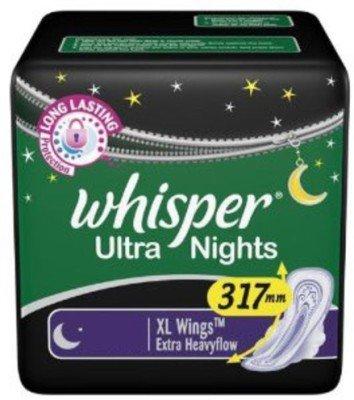 Whisper Ultra Night XL Wings Sanitary Pad (Pack of 15)