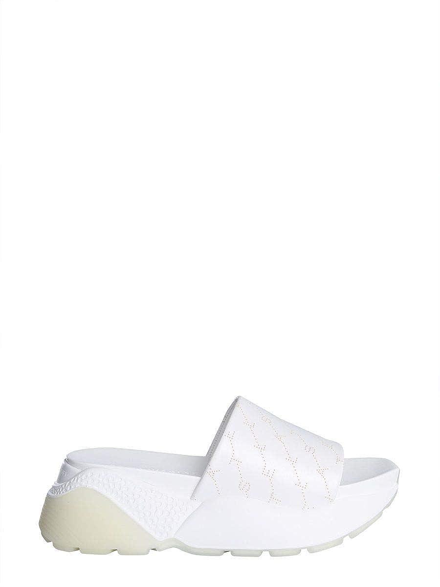 - Stella McCartney Women's 558884W1G909000 White Polyurethane Sandals