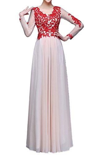 Illusion Party V Evening Neck Lace White Dress Tulle New Dress Elegant Applique Avril UxnApA