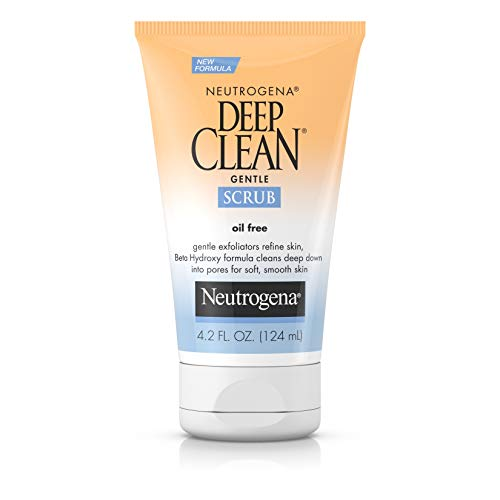 - Neutrogena Deep Clean Gentle Daily Facial Scrub, Oil-Free Cleanser, 4.2 fl. Oz