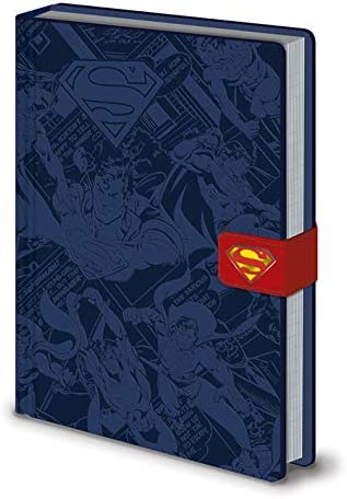 School Book DC Comics Superman Logo A5 Premium Hardback Notebook Journal
