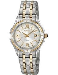 Seiko Womens SXDC36 Two-Tone Le Grand Sport White Dial Watch
