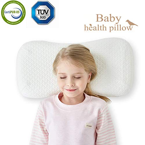 Kids Toddler Pillow for Sleeping Breathable Bed Pillow Hypoallergenic with Washable Zipper White Tencel Pillowcase 18X11 inch