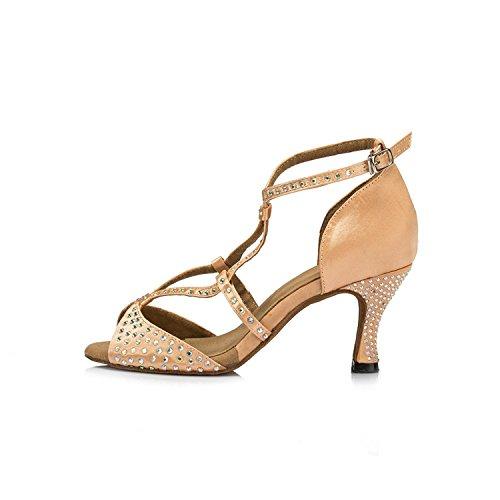 Miyoopark , Damen Tanzschuhe , beige - Beige-7.5cm heel - Größe: 35